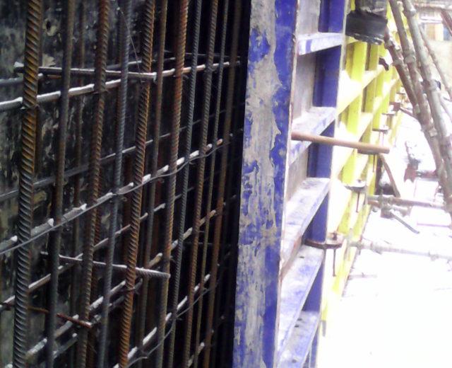 Армирование стен вентходка