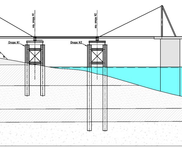 Переходный мостик причала