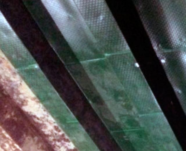 Балка перекрытия. Футеровка полимерным листом после подготовительных работ. Этап реконструкции