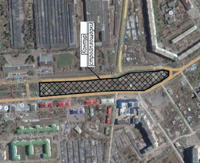 Ситуационный план стройплощадки станции «Б. Хмельницкого» («Туполевская»)