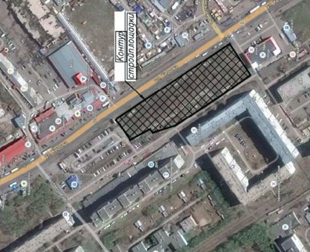 Ситуационный план стройплощадки станции «Кировская» («Рабочая»)